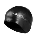 Unisex Women Mens Universal Silicone Swim Cap Waterproof Hair Ear Protection Swimming Cap