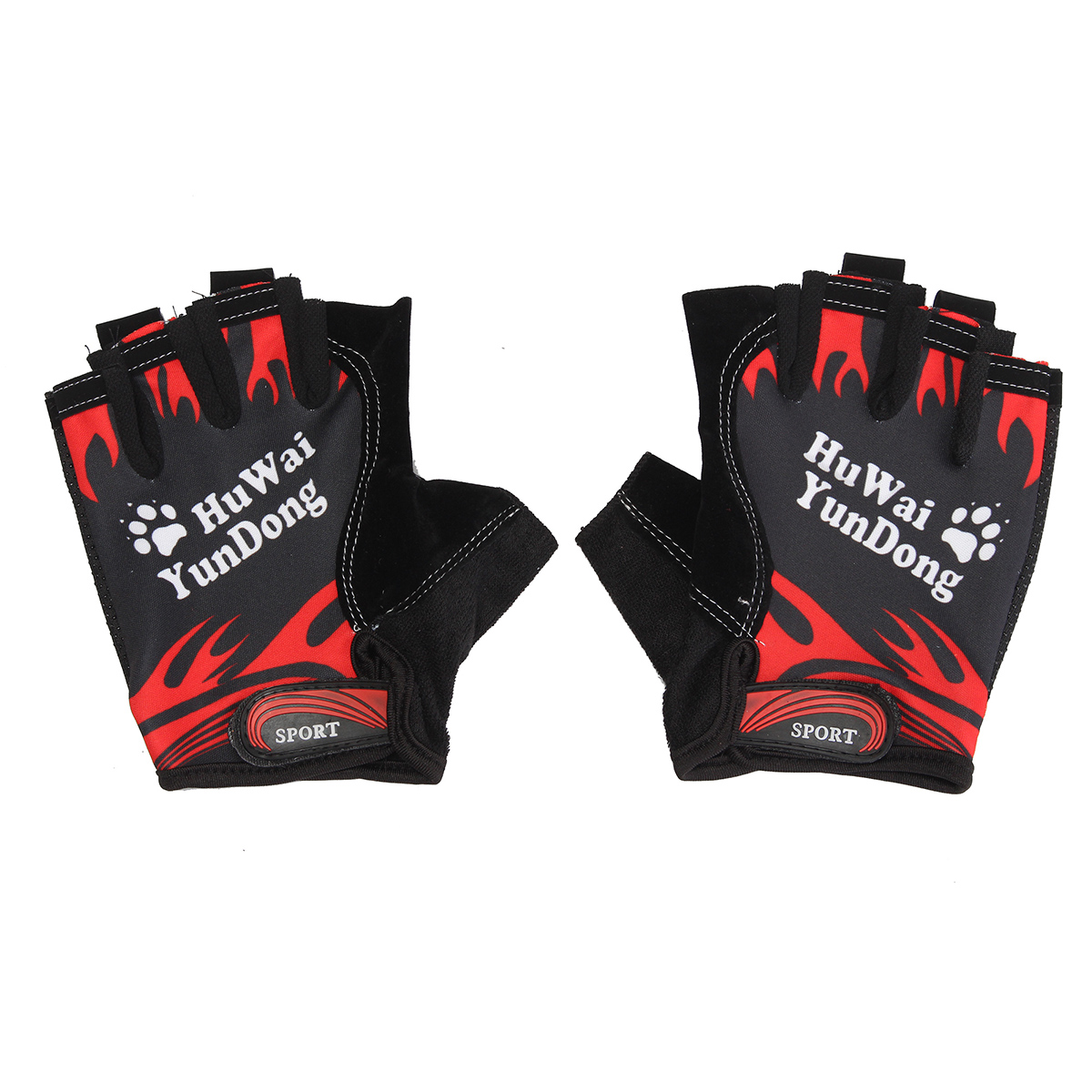 Nylon Breathable Motorcycle Bicycle Cycling Sports Half Finger Fingerless Gloves Mitts
