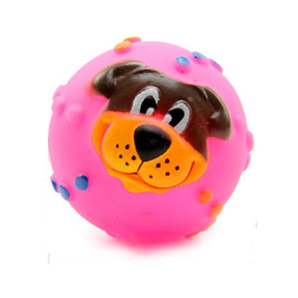 Pet Dog Sound Toy Squishy Rubber Squeaky Play Toy Lion Face 7 Diameter Sound Ball Alex NLD