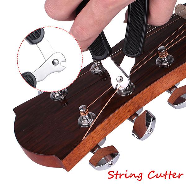 3 in 1 guitar string winder cutter bridge pin puller black multi functions tool. Black Bedroom Furniture Sets. Home Design Ideas