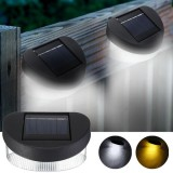 Solar Power 8 LED Wall Light Outdoor Waterproof IP65 Garden Fence Lamp