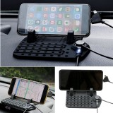 Car Dashboard Holder Stand Mount USB Charger Cradle Non-Slip Pad Mat For Phone GPS