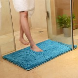 Honana 50x80cm Chenille Soft Mat Machine Washable Bathroom Anti Slip Absorbent Carpet Door Mat Shaggy Rug