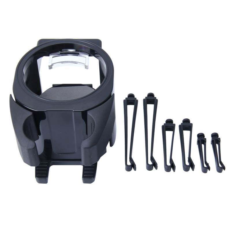 SHUNWEI SD-1027 Car Auto Multi-functional ABS Air Vent Drink Holder Bottle Cup Holder Phone Holder Mobile Mount (Black)