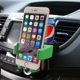 SHUNWEI SD-1027 Car Auto Multi-functional ABS Air Vent Drink Holder Bottle Cup Holder Phone Holder Mobile Mount (Green)