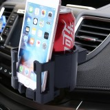 SHUNWEI SD-1026 Car Auto Multi-functional ABS Air Vent Drink Holder Bottle Cup Holder Phone Holder Mobile Mount (Black)