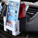 SHUNWEI SD-1026 Car Auto Multi-functional ABS Air Vent Drink Holder Bottle Cup Holder Phone Holder Mobile Mount (White)