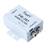 FH-203 12V Vehicle Car Audio Amplifier Noise Filter RCA Plug Loop Isolator for DVD Stereos