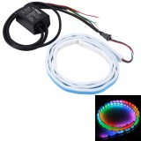 1.2m Car Auto Waterproof Universal Rear Colorful Flowing Light Tail Box Lights Red Light Brake Light Yellow Light Turn Signal Light LED Lamp Strip Tail Decoration, DC 9-30V