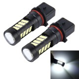 2 PCS P13W 10W 650 LM 6000K Car Fog Lights with 42 SMD-2835 LED Lamps, DC 12V (White Light)