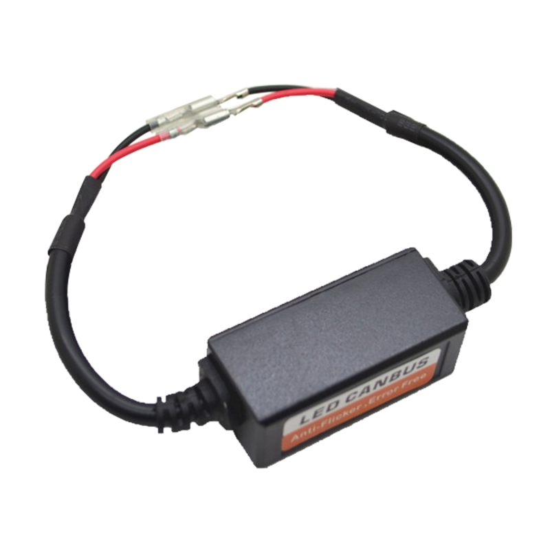 2 PCS H1/H3 Car Auto LED Headlight Canbus Warning Error-free Decoder Adapter for DC 9-36V/20W-40W