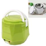 OUSHIBA Car Auto C3 Mini Multi-function Rice Cooker 12V 1.3L Volume For Rice Soup Noodles Vegetable Dessert (Green)