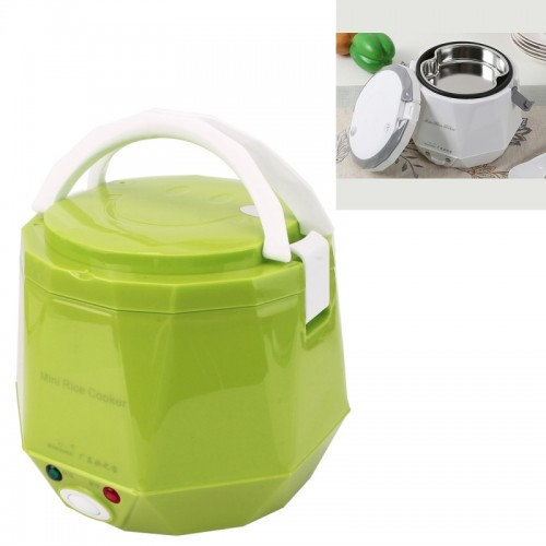 OUSHIBA Car Auto C3 Mini Multi-function Rice Cooker 12V 1.3L Volume For Rice Soup Noodles Vegetable Dessert (Green)