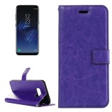 For Samsung Galaxy S8 Retro Crazy Horse Texture Horizontal Flip Leather Case with Holder & Card Slots & Wallet & Photo Frame (Purple)
