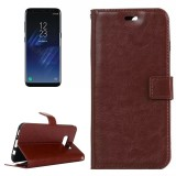 For Samsung Galaxy S8 Retro Crazy Horse Texture Horizontal Flip Leather Case with Holder & Card Slots & Wallet & Photo Frame (Brown)