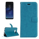 For Samsung Galaxy S8 Retro Crazy Horse Texture Horizontal Flip Leather Case with Holder & Card Slots & Wallet & Photo Frame (Blue)