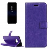 For Samsung Galaxy S8 Retro Crazy Horse Texture Horizontal Flip Leather Case with Holder & Card Slots & Wallet & Photo Frame& Lanyard (Purple)