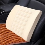 Car Auto Multifunctional Electrical Car Massage Lumbar Seat Relaxation Waist Support Cushion (Khaki)