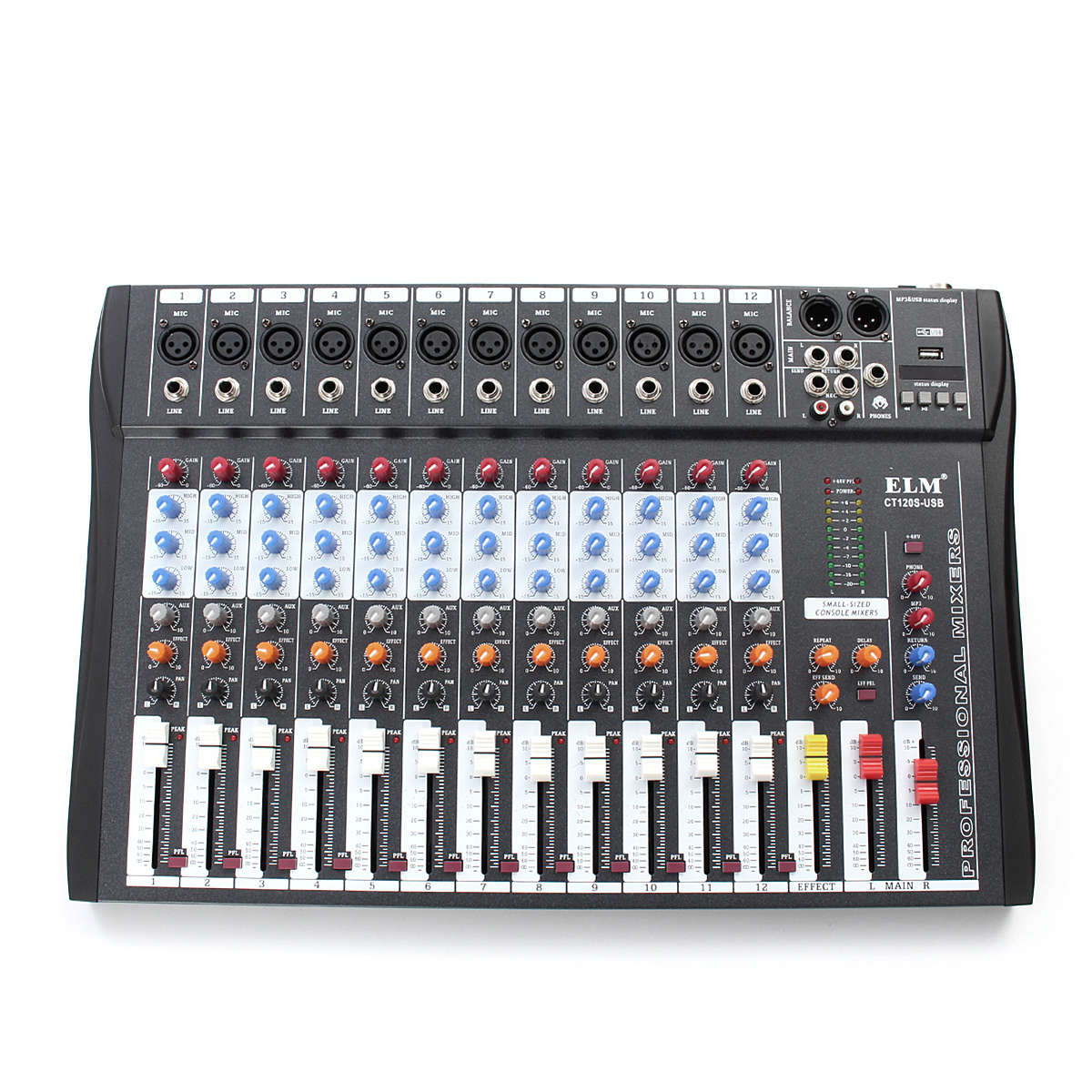 Ct 120s 12 channel professional live studio audio mixer power usb mixing console - Professional mixing console ...