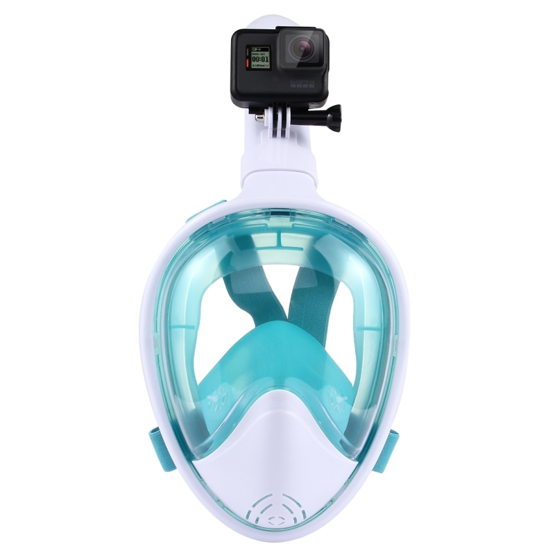 PULUZ Water Sports Diving Equipment Full Dry Diving Mask for GoPro HERO5 /4 /3+ /3 /2 /1, S/M Size (Green)