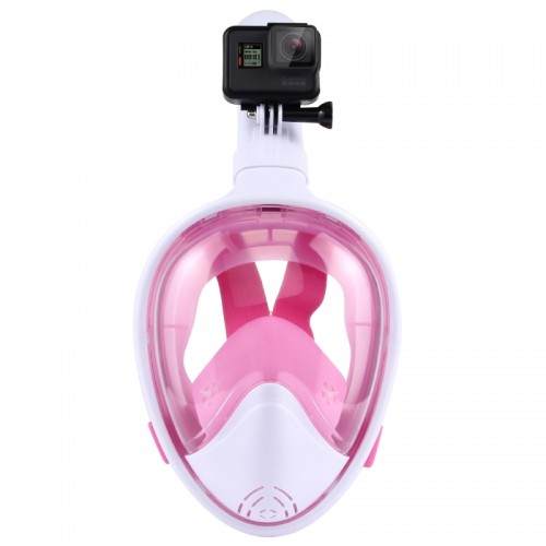 PULUZ Water Sports Diving Equipment Full Dry Diving Mask for GoPro HERO5 /4 /3+ /3 /2 /1, L/XL Size (Pink)