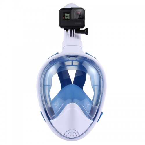 PULUZ Water Sports Diving Equipment Full Dry Diving Mask for GoPro HERO5 /4 /3+ /3 /2 /1, L/XL Size (Blue)
