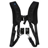 PULUZ Quick Release Double Shoulder Harness Soft Pad Decompression Foam Shoulder Strap Belt for DSLR Digital Cameras