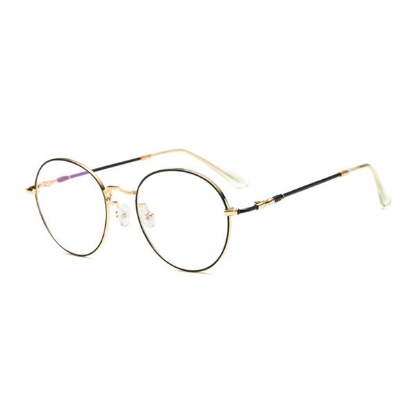 689f239246 Unisex Ultra-light Radiation Protection Eyeglasses Round Oval Metal Rim  Vintage Lens Glasses