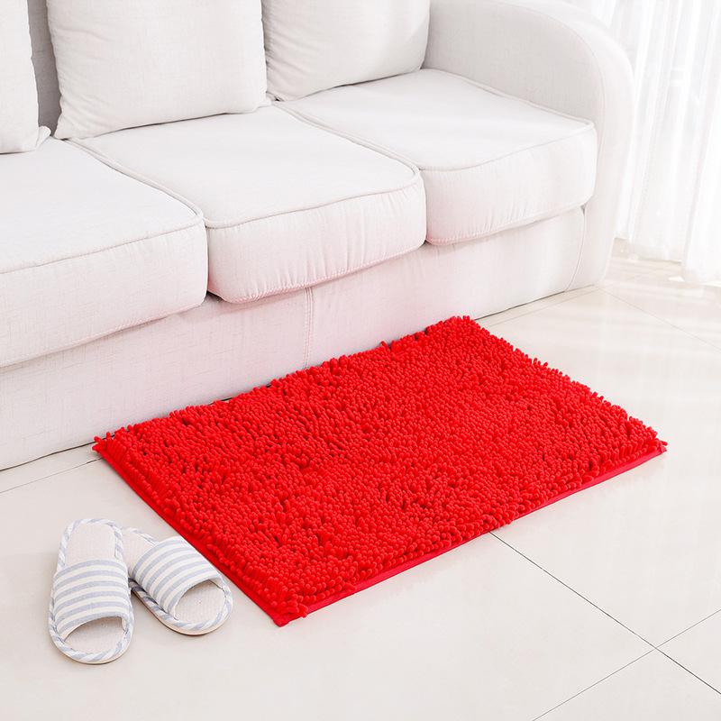 honana 50x80cm chenille soft mat machine washable bathroom anti slip absorbent carpet door mat. Black Bedroom Furniture Sets. Home Design Ideas