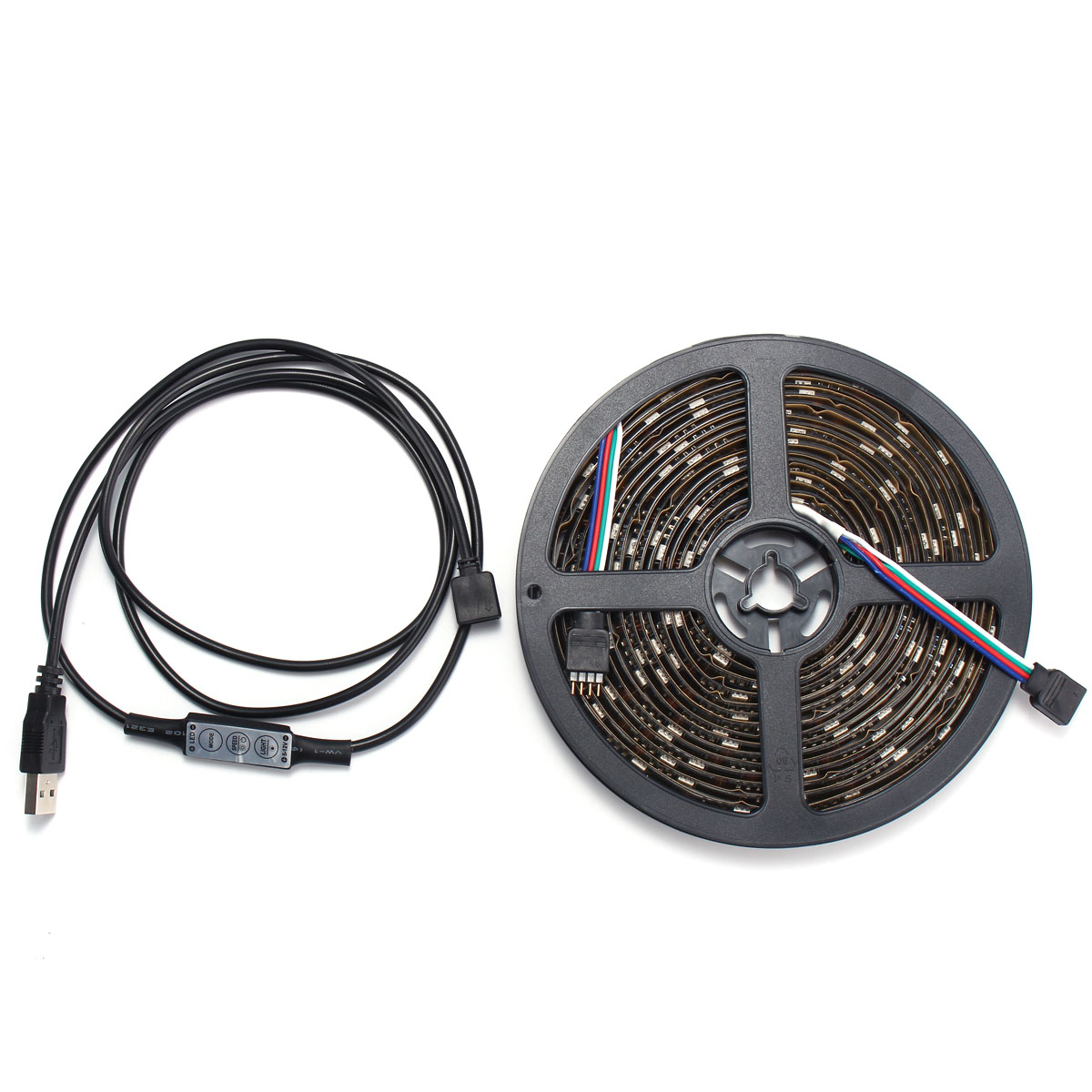 0.5/1/2/3/4/5M USB Waterproof RGB SMD5050 LED Strip Light Bar TV Background Lighting Lamp Kit DC5V
