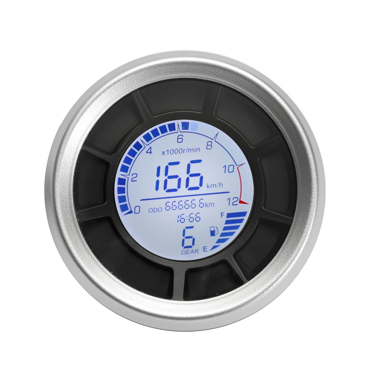 Motorcycle Digital Speedometer Odometer Instrument ...