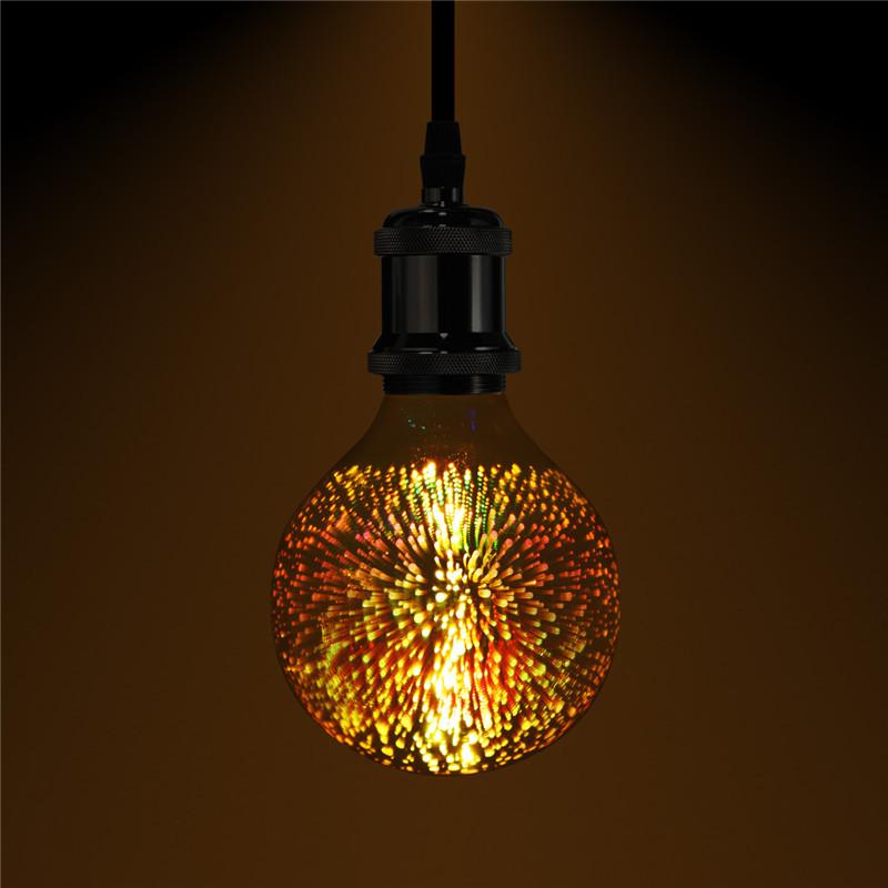 3d Fireworks E27 G80 Led Retro Edison Decorative Light Lamp Bulb Ac85 265v Alexnld Com