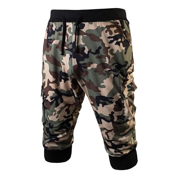1bd74467fa57c2 Summer Men's Fashion Sports Camouflage Running Knee Length Shorts ...