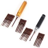 12 in 1 Repair Screwdriver Sets Repair Tools Kit Prision Gold/Black Screwdriver