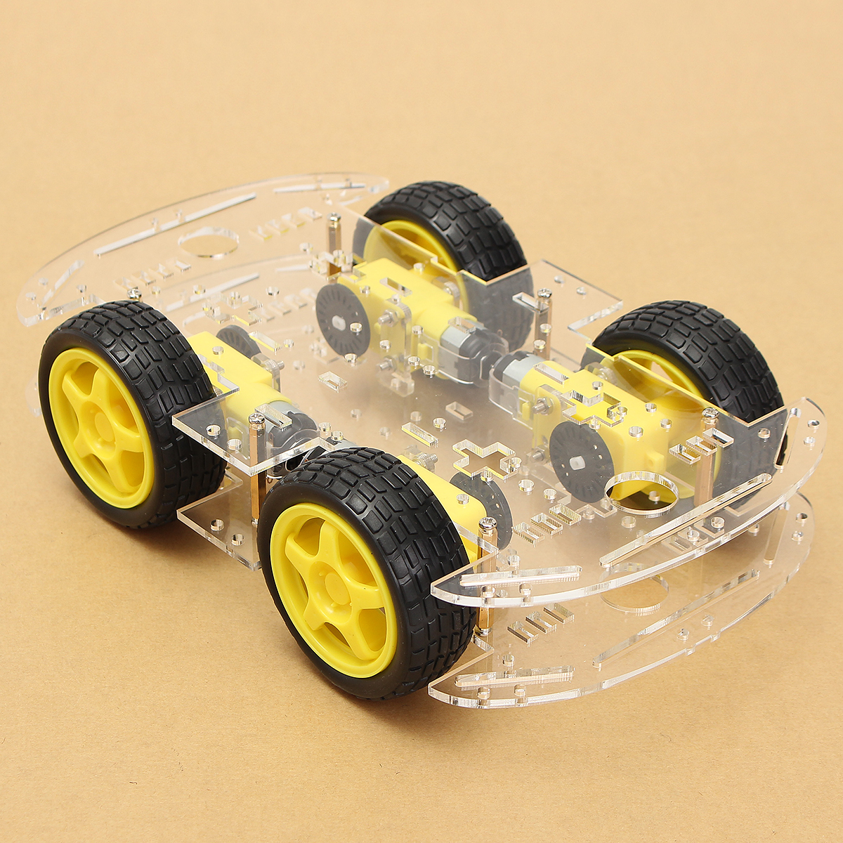 Diy 4wd Smart Robot Car Chassis Kits With Magneto Speed