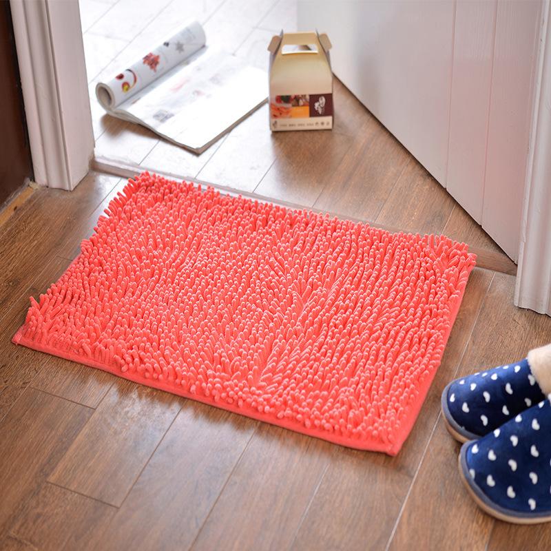 Honana 50x80cm Chenille Soft Mat Machine Washable Bathroom Anti Slip Absorbent Carpet Door Mat Shaggy Rug