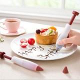 Silicone Cake Decorating Pen Dessert Pastry Cupcake Ice Cream Biscuit Decoration Tool Baking Gadget