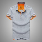 AFSJEEP Summer Casual Lapel Short Sleeved T-shirt Men's Cotton POLO Shirt