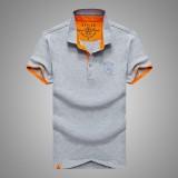 AFSJEEP Summer Casual Lapel Short Sleeved T-shirt Men's Cotton POLO Shirt