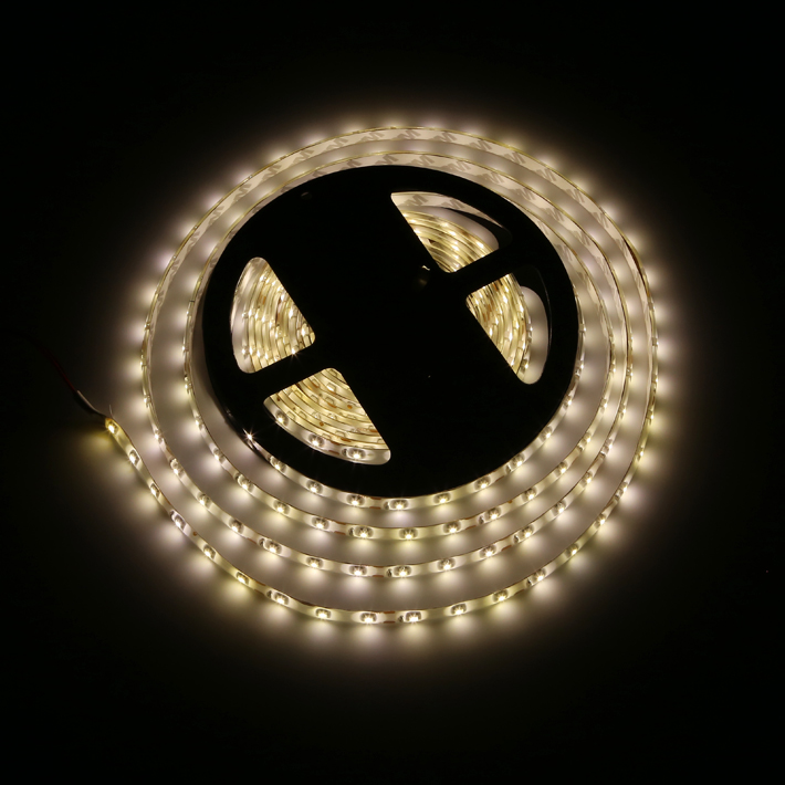 5M SMD3528 White Warm White 600 LED Waterproof Flexible Strip Light Kit With