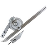 0-360   Stainless Steel Universal Bevel Protractor Angle Finder Angular Dial Ruler Goniometer with 300mm Blade