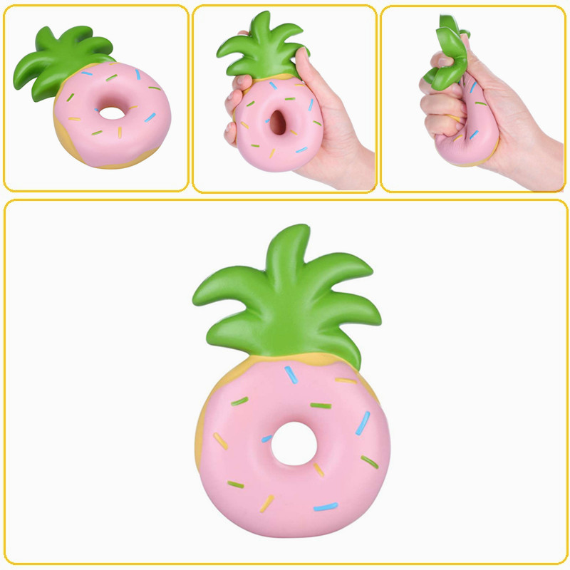 Donut Squishy Collection : Vlampo Squishy Jumbo Pineapple Donut Slow Rising Original Packaging Fruit Collection Gift Decor ...