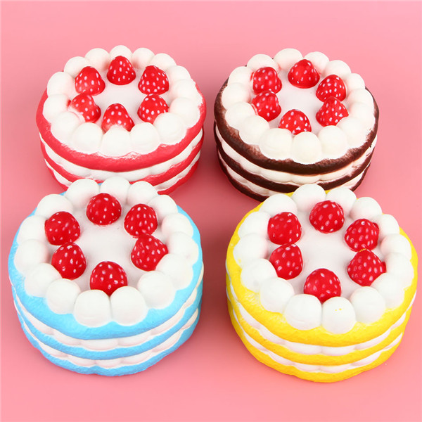 Eric Squishy Cuteyard Jumbo Strawberry Cake Slow Rising Original Packaging Collection Gift Decor ...