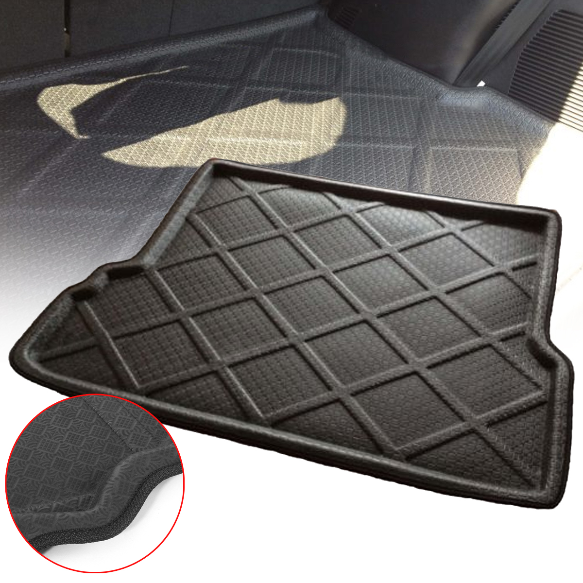 rear trunk car cargo mat floor protector for toyota. Black Bedroom Furniture Sets. Home Design Ideas