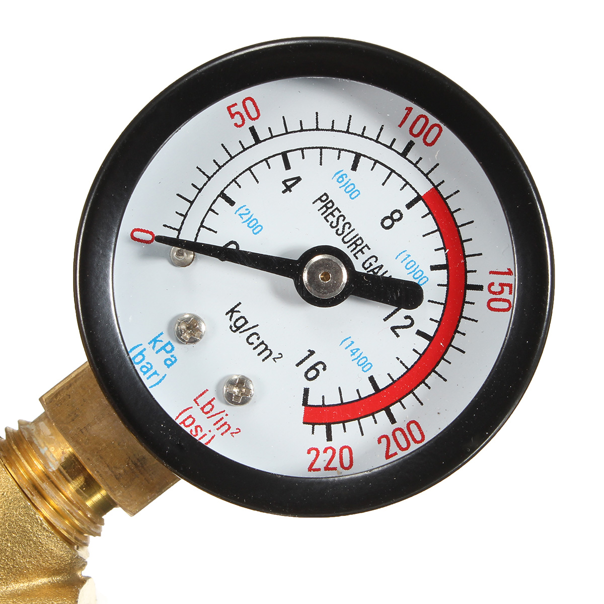 dn20 npt 3 4 adjustable brass water pressure regulator reducer with gauge met. Black Bedroom Furniture Sets. Home Design Ideas