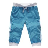 Men's Summer Casual Sports Spell Color Shorts Elastic Waist Shorts