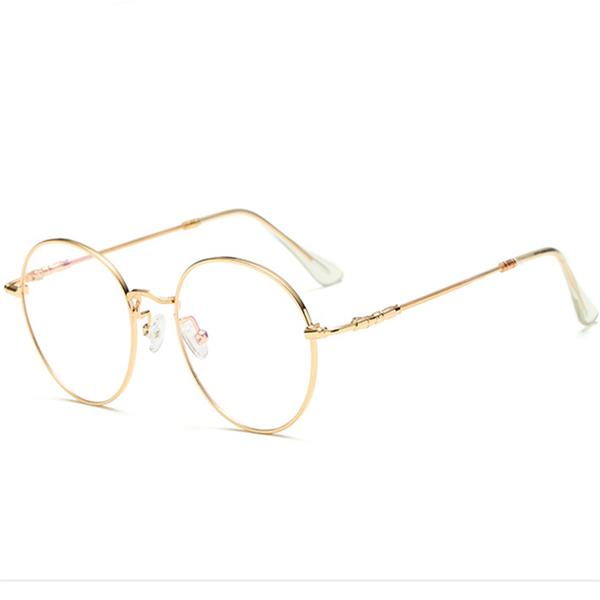 13cbe95ce8 Unisex Ultra-light Radiation Protection Eyeglasses Round Oval Metal ...