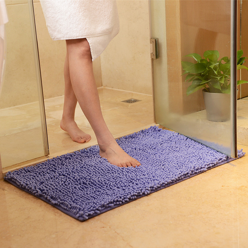 Purple Rug Australia: Honana 50x80cm Chenille Soft Mat Machine Washable Bathroom