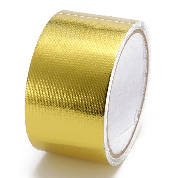 500 Degree Gold Heat Cool Reflective Tape Wrap 2x5m