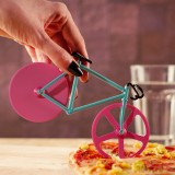 Honana CF-BW03 Bicycle Pizza Cutter Professional Stainless Steel Non-stick Bike Round Pizza Slicer